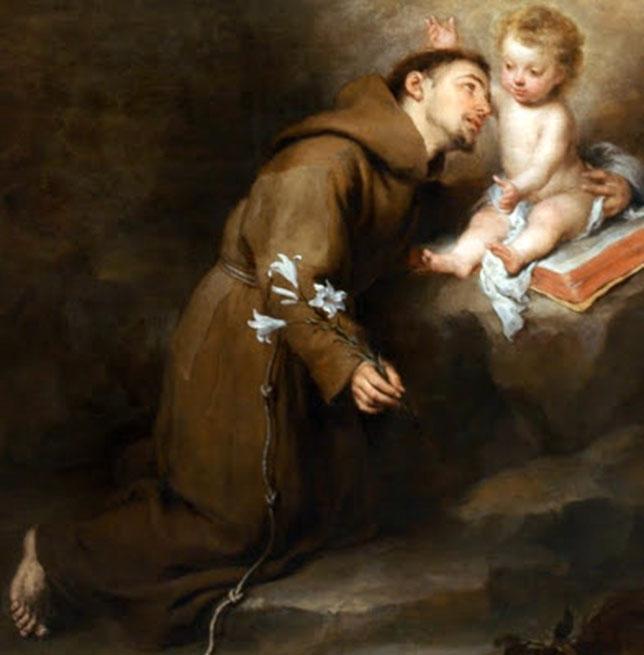 San Antonio con el niño Jesús
