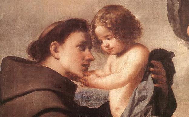 Imagen de San Antonio con un niño