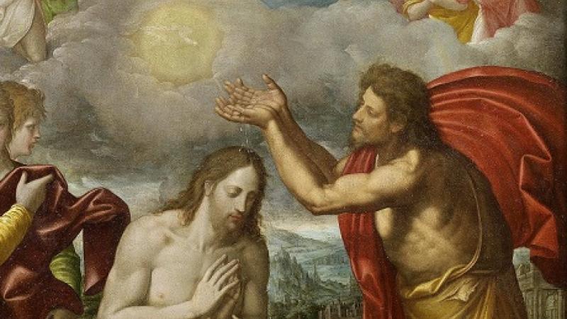 Juan Bautista con Jesús