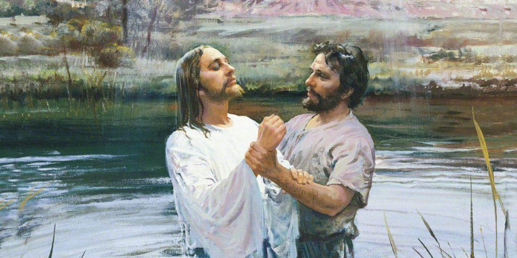 Jesús en el bautizo