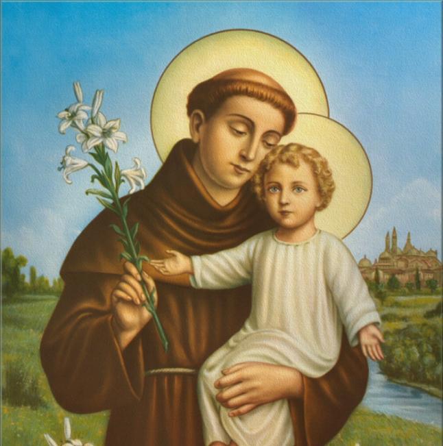 El Santo y el niño Jesus