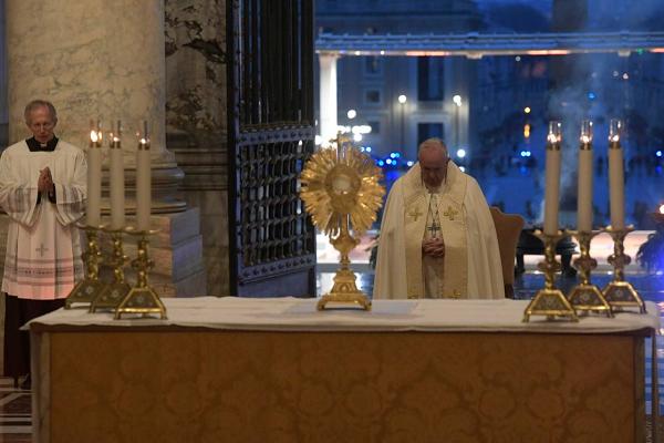 Oración del papa